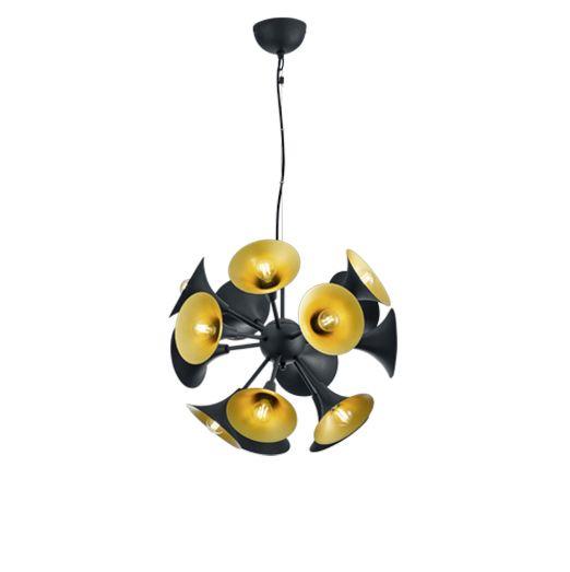 Art-deco-hanglamp-zwart-met-goude-binnenkant---Toet