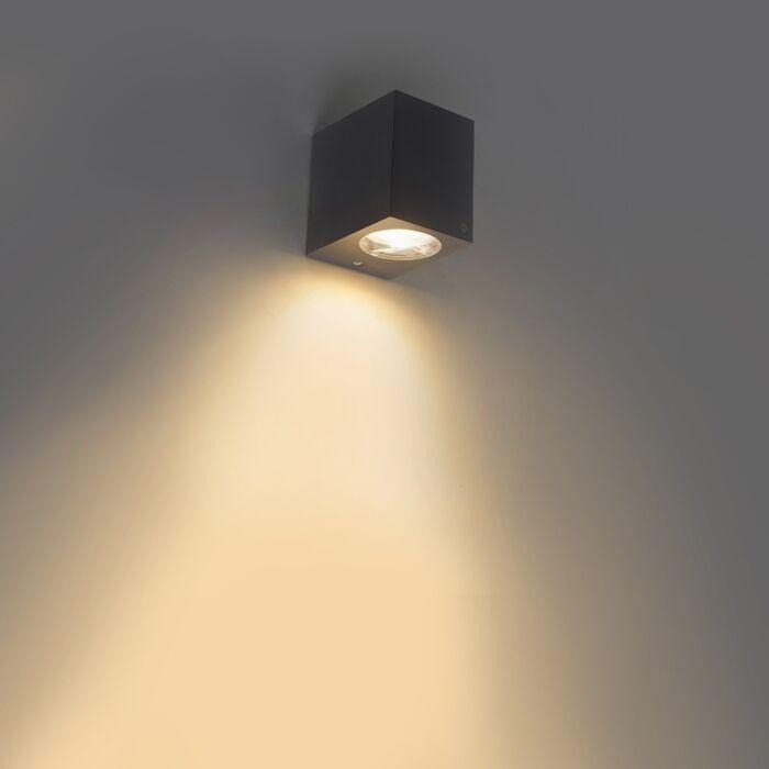 Moderne-buiten-wandlamp-grijs-van-kunststof---Baleno-I