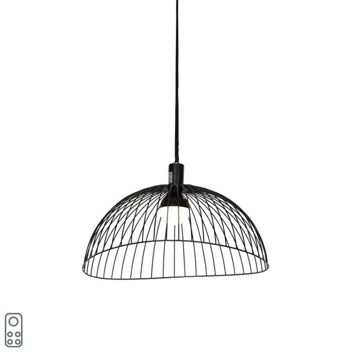 Buiten-plafondlamp-zwart-IP44-incl.-led-oplaadbaar-RGBW---Pua