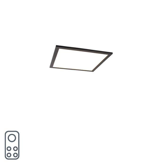 Modern-LED-paneel-zwart-40-cm-incl.-LED-en-dimmer---Liv