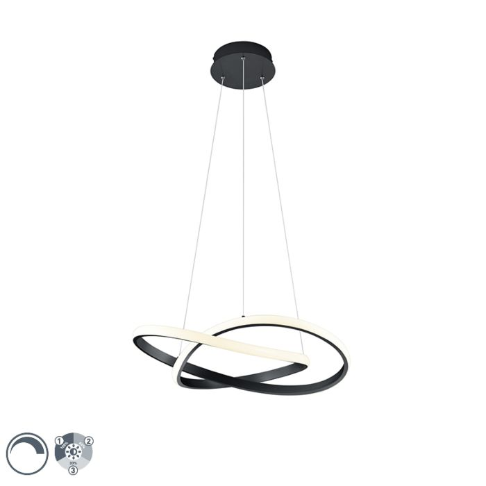 Hanglamp-zwart-incl.-LED-3-staps-dimbaar---Koers
