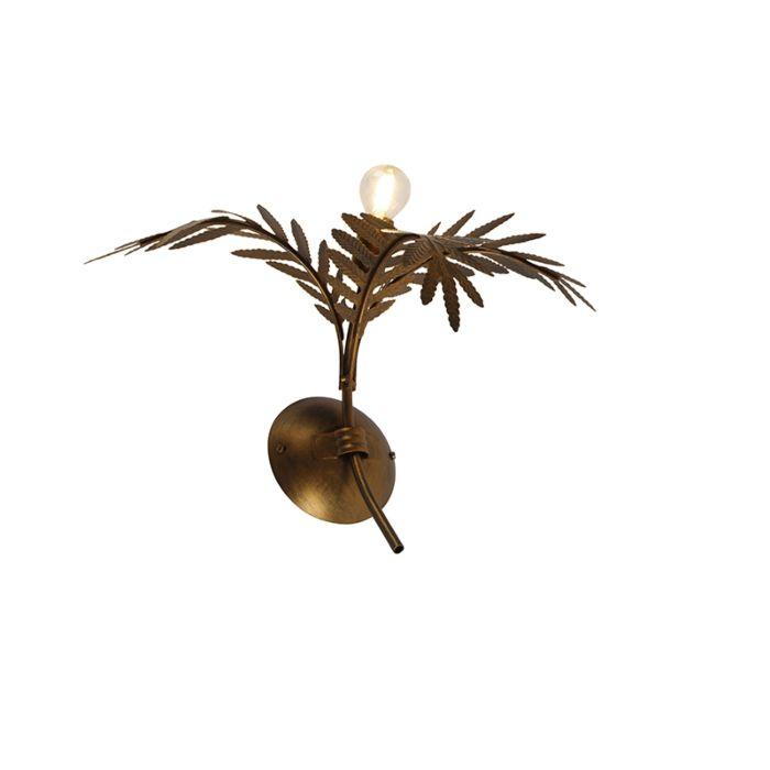 Vintage-wandlamp-goud-30-cm---Botanica