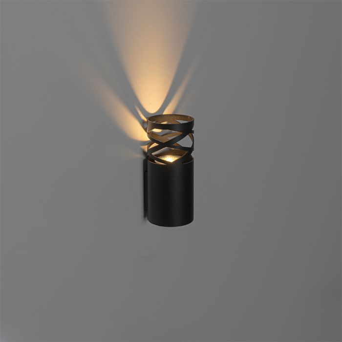Design-wandlamp-zwart---Arre