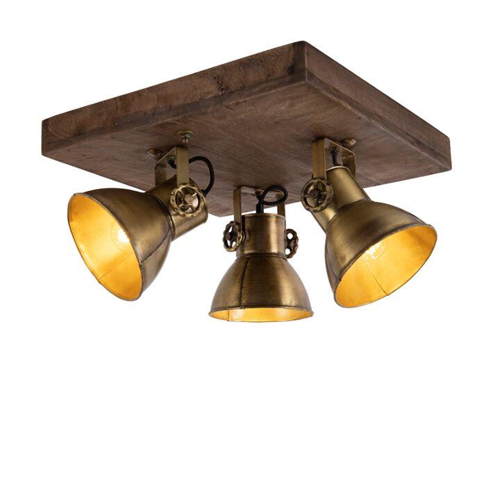 Plafondlamp-brons-met-hout-3-lichts---Mangoes