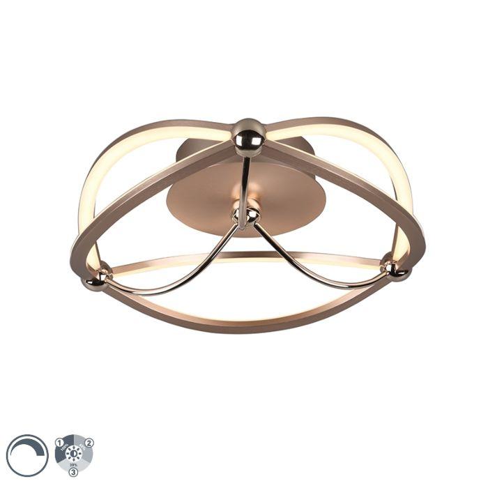 Plafondlamp-messing-41-cm-incl.-LED-3-staps-dimbaar---Jacky