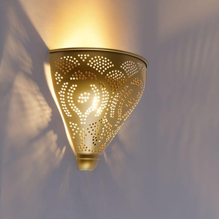 Oosterse-wandlamp-goud---Zayn