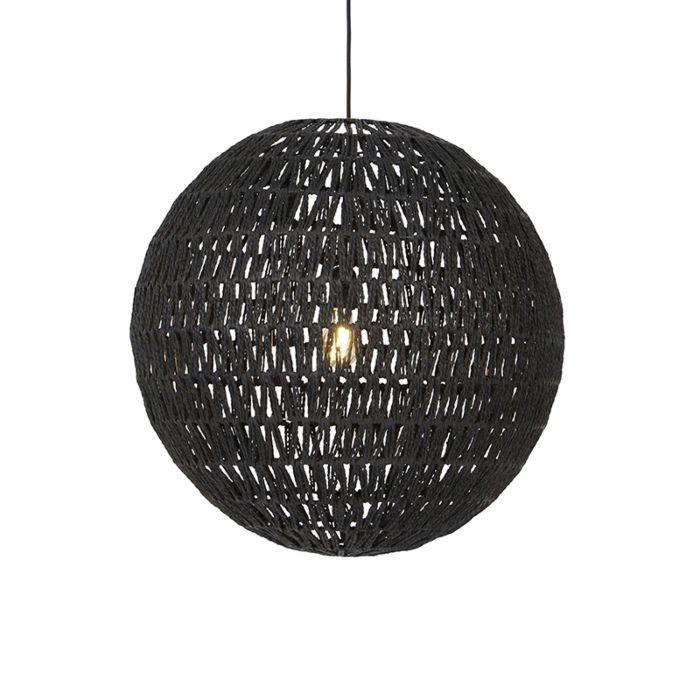Retro-hanglamp-zwart-60-cm---Lina-Ball