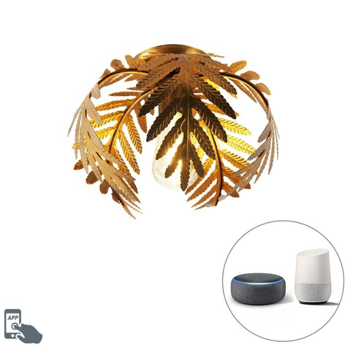 Vintage-smart-plafondlamp-goud-24-cm-incl.-WiFi-ST64---Botanica