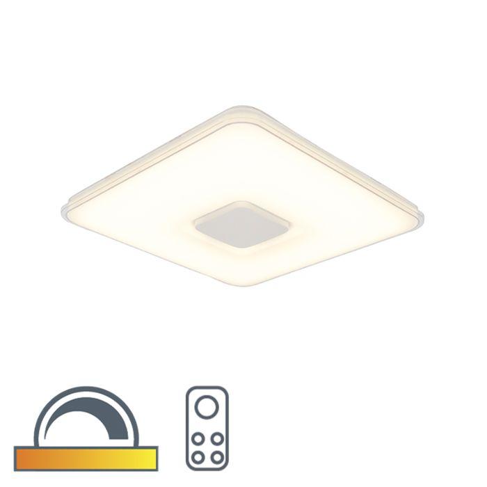 Plafonnière-vierkant-incl.-LED-dim-to-warm-afstandbediening---Seoul