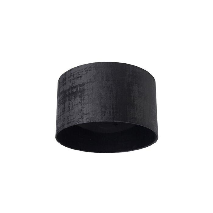 Velours-lampenkap-zwart-35/35/20