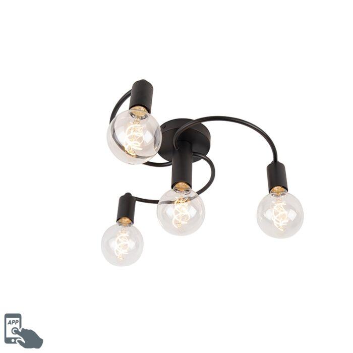 Smart-plafondlamp-zwart-incl.-4-Wifi-G95---Facil