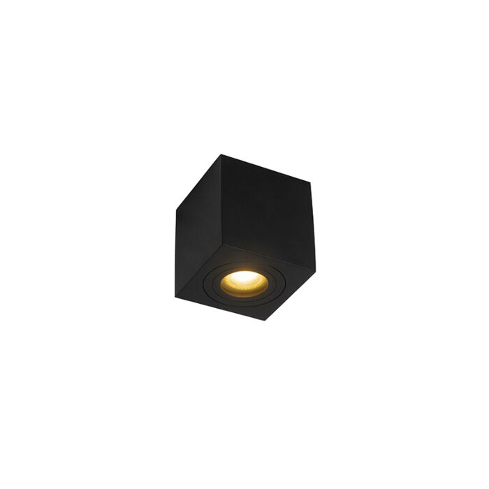 Moderne-vierkante-badkamer-spot-zwart---Capa