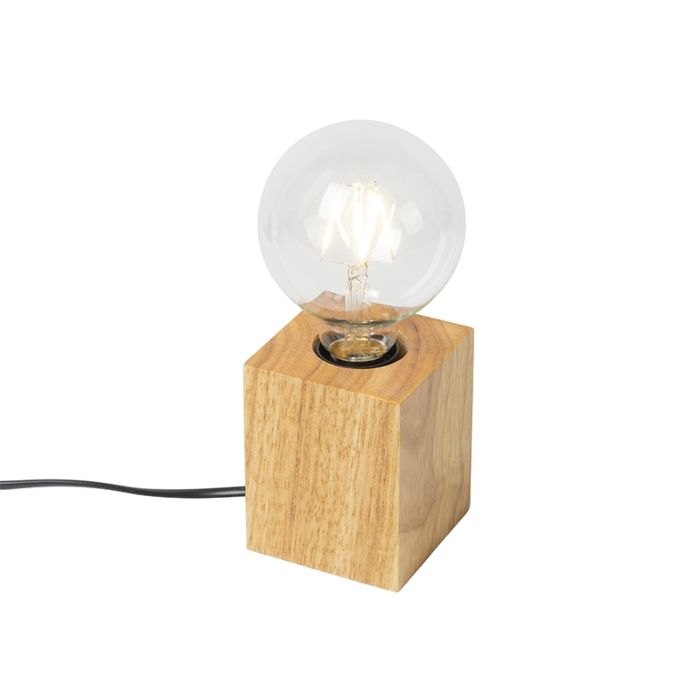 Landelijke-tafellamp-hout-naturel---Bloc