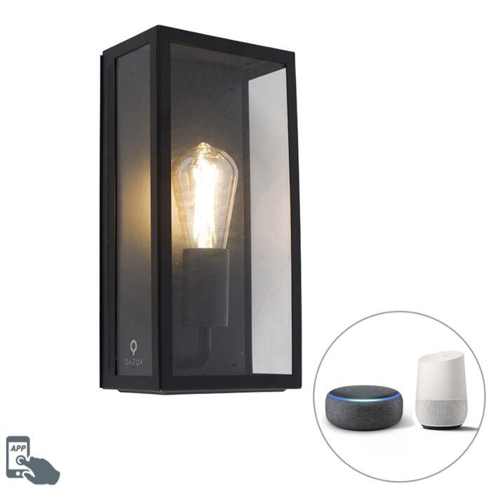 Smart-buiten-wandlamp-zwart-incl.-WiFi-ST64-IP44---Rotterdam