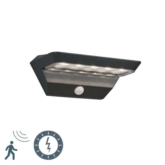 Buitenwandlamp-antraciet-met-bewegingssensor-op-solar---Mendo