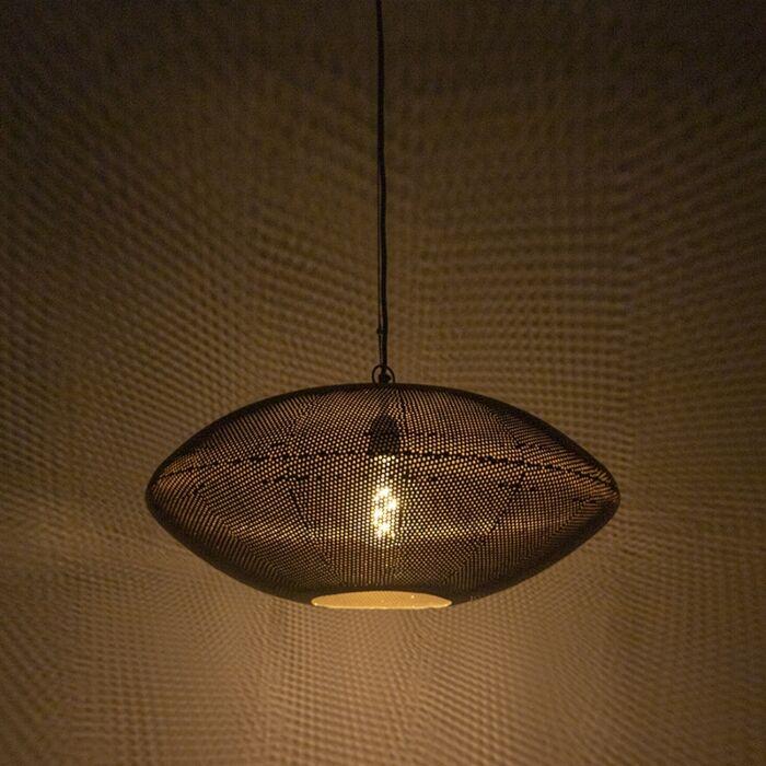 Oosterse-hanglamp-zwart-met-goud-60-cm---Radiance