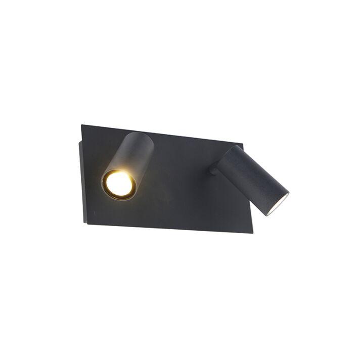 Moderne-buiten-wandlamp-grijs-IP54-incl.-LED-2-lichts---Simon