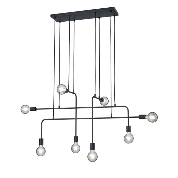 Moderne-hanglamp-zwart-8-lichts---Tibo