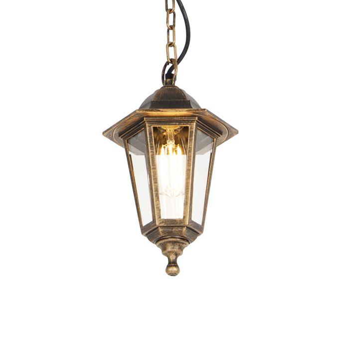 Buiten-hanglamp-antiek-goud-IP44---New-Haven