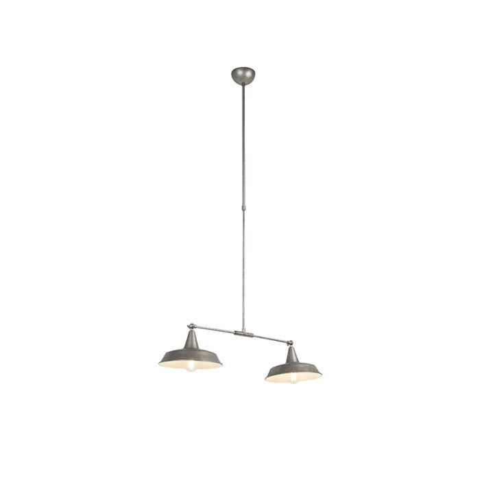 Industriële-hanglamp-zilver-2-lichts-verstelbaar---Vici