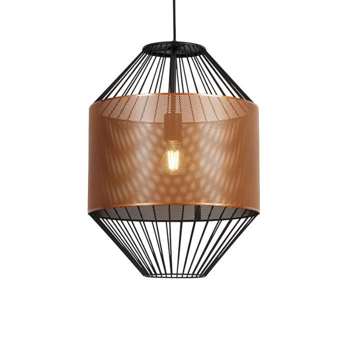 Design-hanglamp-koper-met-zwart-40-cm---Mariska