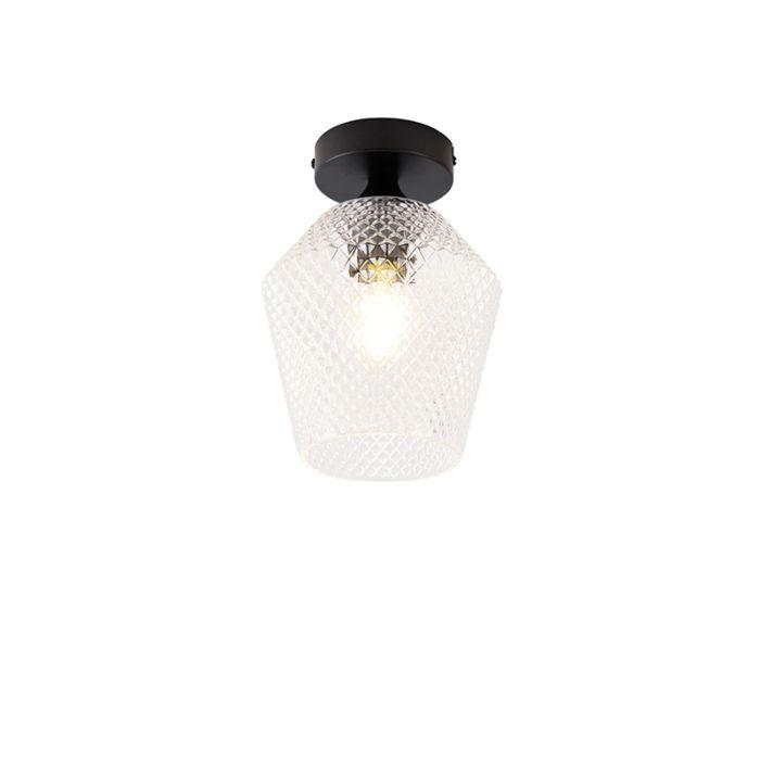Art-Deco-plafondlamp-zwart---Karce