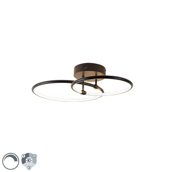 Design-plafondlamp-zwart-incl.-LED-3-staps-dimbaar---Joaniqa