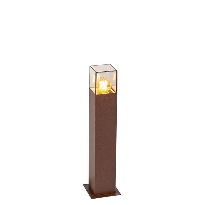 Smart-staande-buitenlamp-roestbruin-50-cm-incl.-Wifi-A60---Denmark