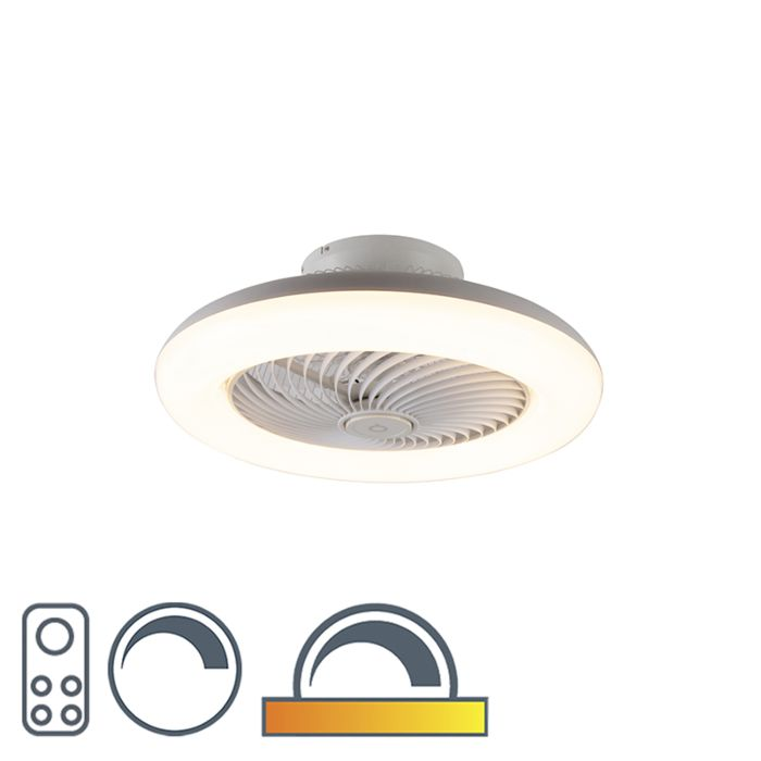 Design-plafondventilator-wit-incl.-LED-dimbaar---Clima