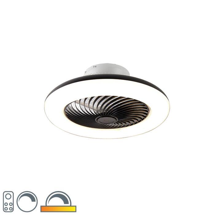 Design-plafondventilator-zwart-dimbaar---Clima