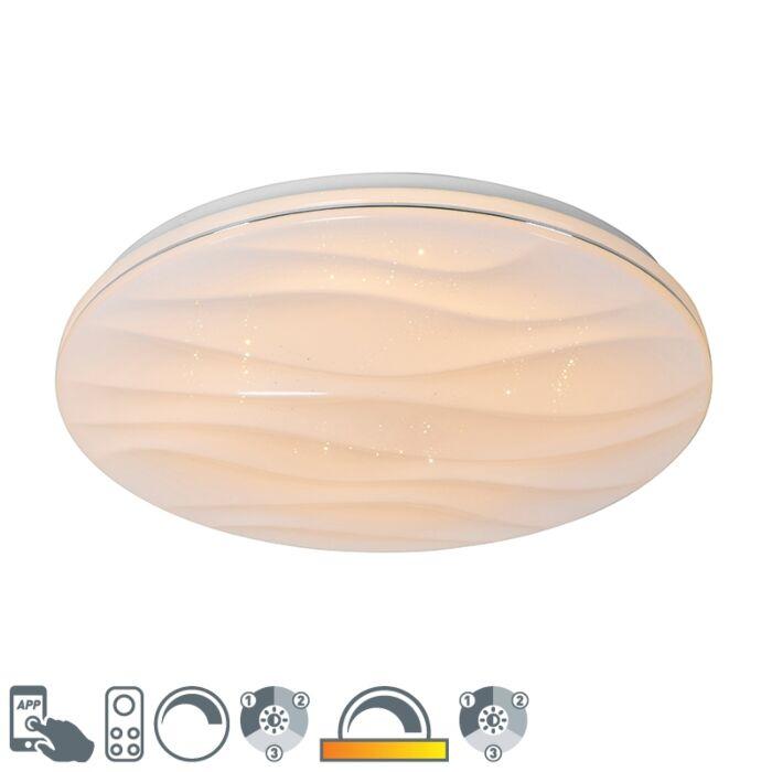 Smart-plafondlamp-wit-48-cm-incl.-LED-en-dimmer---Damla