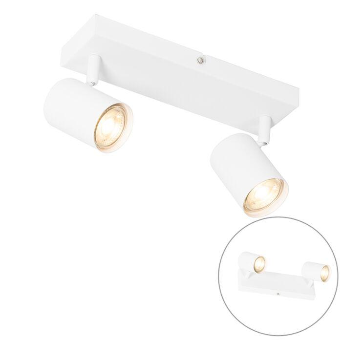 Moderne-plafondlamp-wit-2-lichts-verstelbaar---Jeana