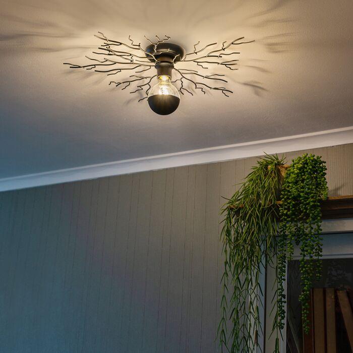 Landelijke-plafondlamp-zwart-60-cm---Forest