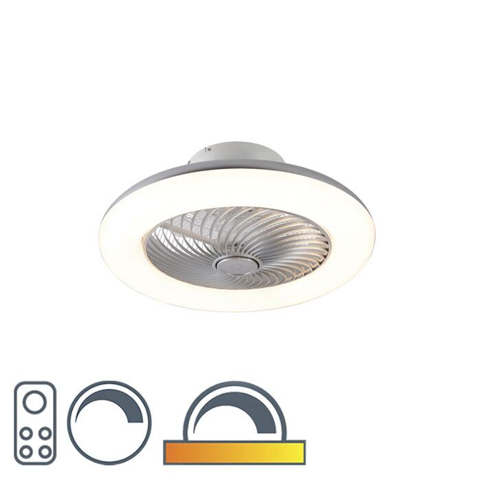 Design-plafondventilator-zilver-dimbaar---Clima