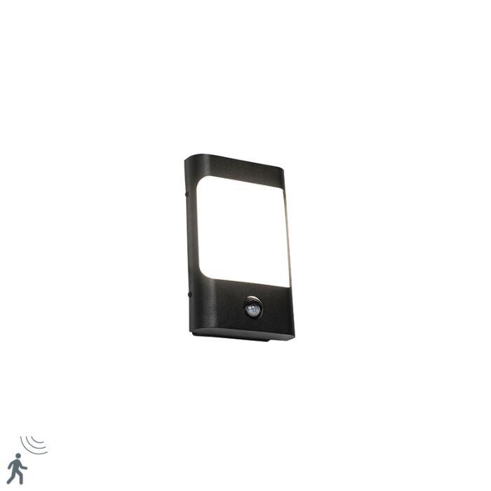 Wandlamp-zwart-incl.-LED-IP44-met-bewegingssensor---Khuvan