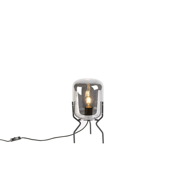 Smart-design-tafellamp-zwart-met-smoke-glas-incl.-wifi-A60---Bliss