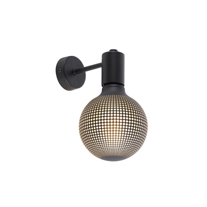 Industriële-wandlamp-zwart-incl.-G125-DECO-100lm---Facil-1