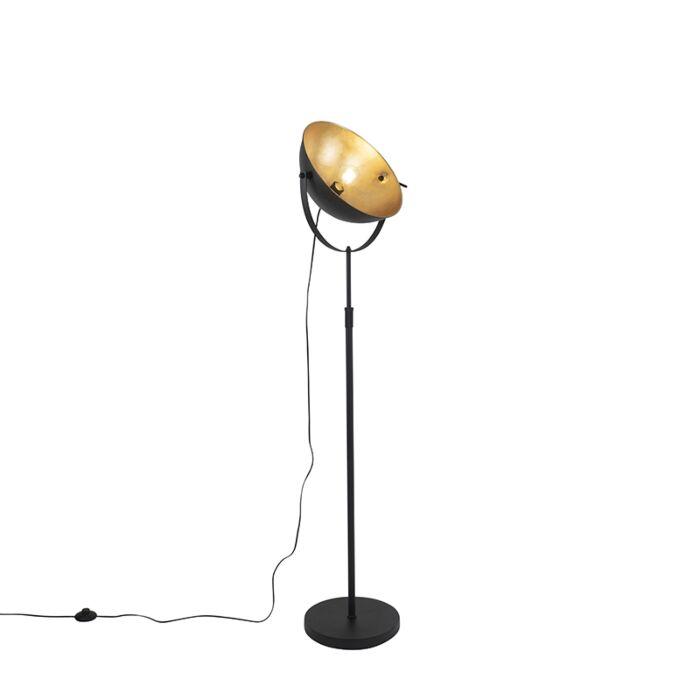 Vloerlamp-zwart-met-goud-35-cm-verstelbaar---Magnax