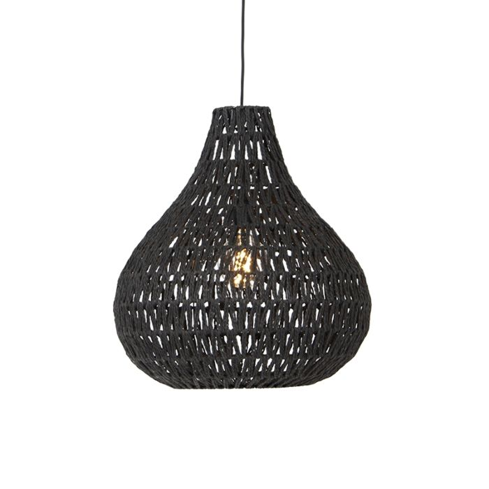 Retro-hanglamp-zwart-45-cm---Lina-Drop