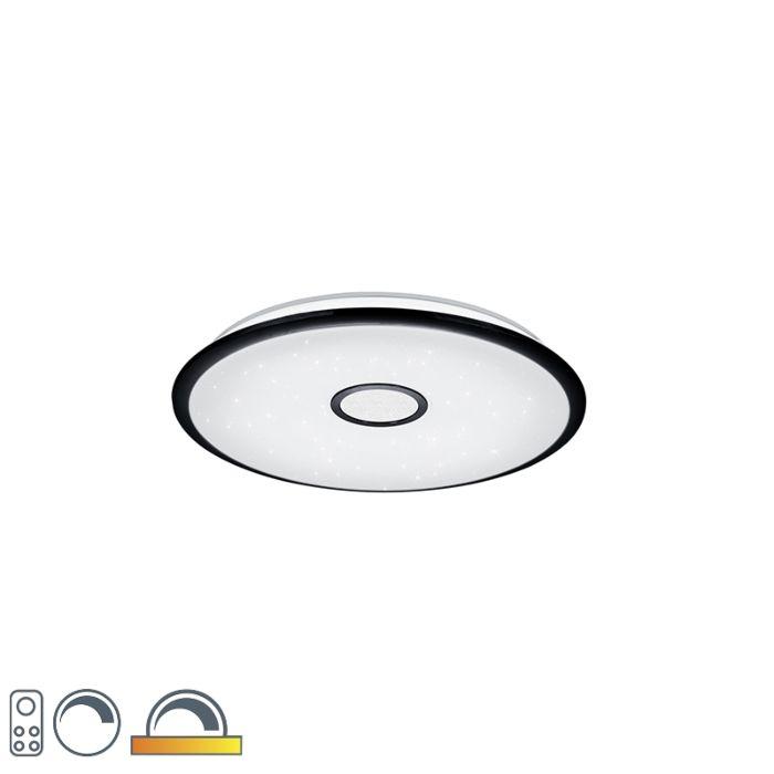 Plafondlamp-zwart-65-cm-Incl.-LED-met-afstandsbediening---Bente