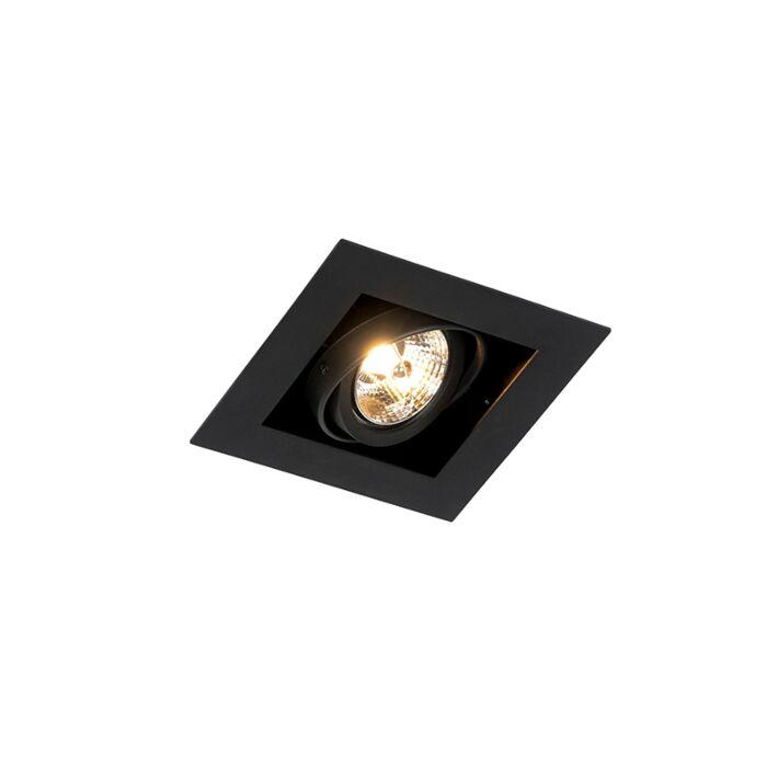 Moderne-inbouwspot-zwart-verstelbaar---Oneon-70