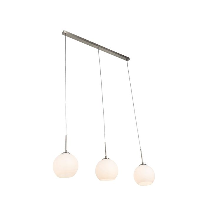 Moderne-hanglamp-3-lichts-staal---Eloy