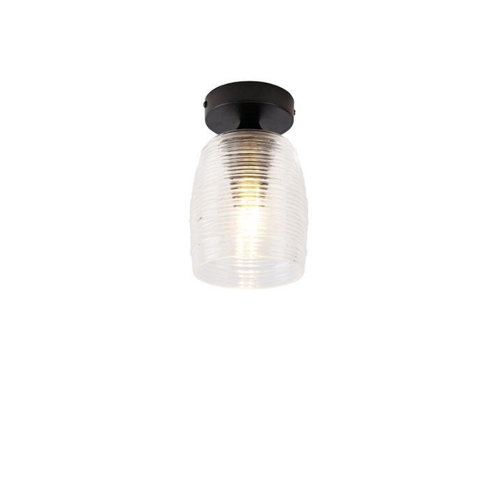 Art-deco-plafondlamp-zwart---Michi