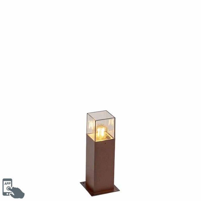 Smart-staande-buitenlamp-roestbruin-30-cm-incl.-Wifi-A60---Denmark
