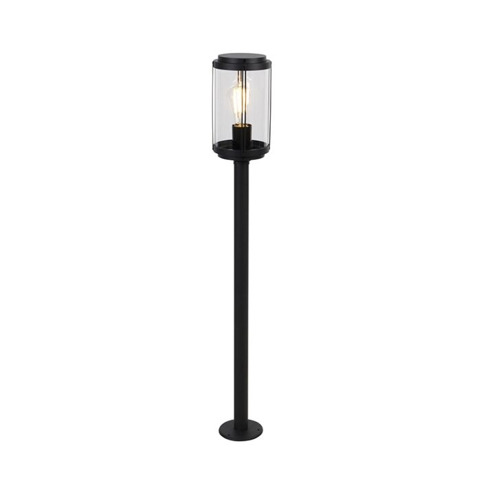 Design-staande-buitenlamp-zwart-100-cm-IP44---Schiedam