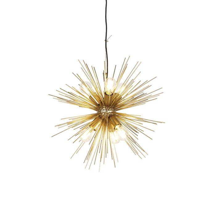 Art-Deco-hanglamp-goud-6-lichts---Broom