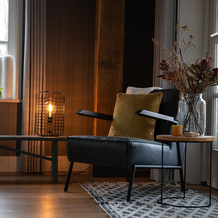 Industriële-tafellamp-zwart-40-cm---Bliss-Vefa