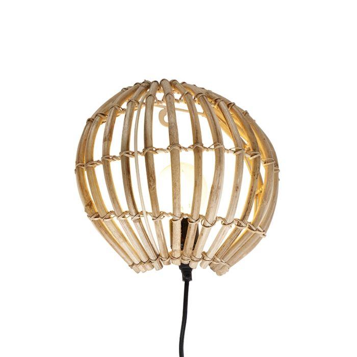Landelijke-wandlamp-bamboe---Canna