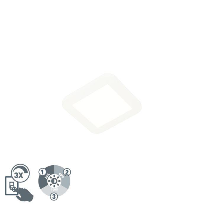 Plafonnière-wit-17-cm-incl.-LED-3-staps-dimbaar-IP44---Steve