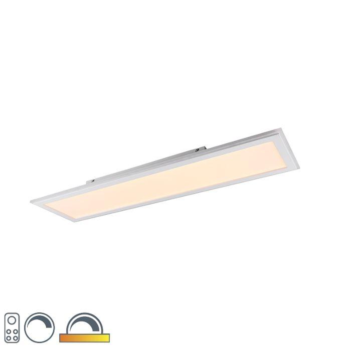 Plafondlamp-wit-100-cm-incl.-LED-RGB-afstandsbediening---Anke
